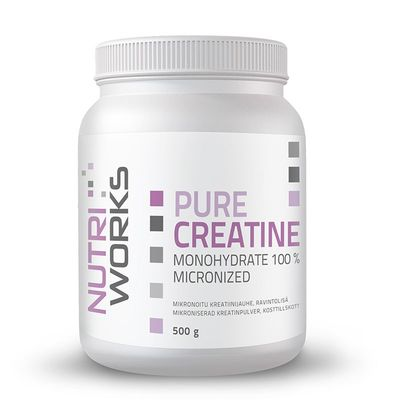 Nutri Works Pure Creatine Monohydrate 100 %, 500g